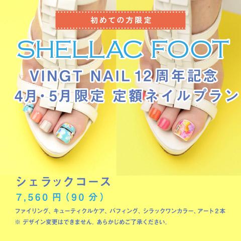 VINGT NAIL 12周年記念 4月・5月限定 定額ネイルプラン2